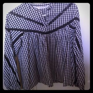 Zara cotton blouse.
